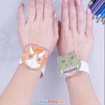 Dinosaur Paper Bracelets for Kids