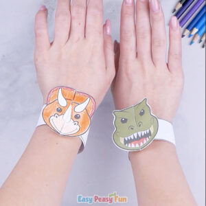 Printable Dinosaur Bracelets for Kids to Make