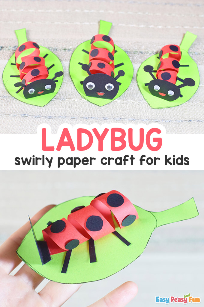 Swirly Paper Ladybug Craft for Kids