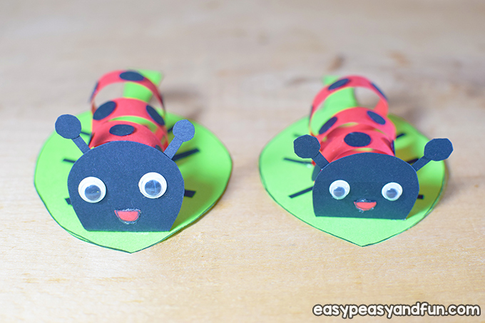 Swirly Paper Ladybug Craft for Kids to Make