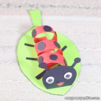 Swirly Paper Ladybug Craft