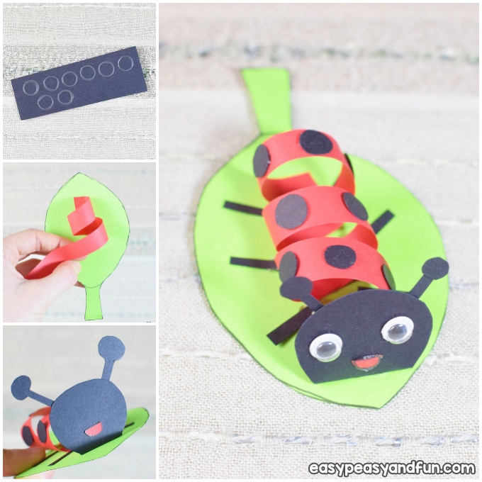 Swirly Paper Ladybug Spring Craft Idea