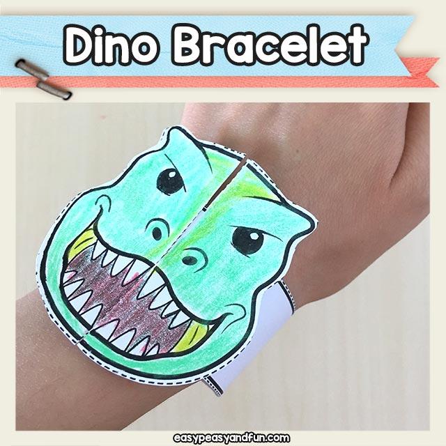 Dinosaur Bracelets Printable Template