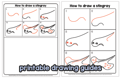 Printable Drawing Guides Stingray