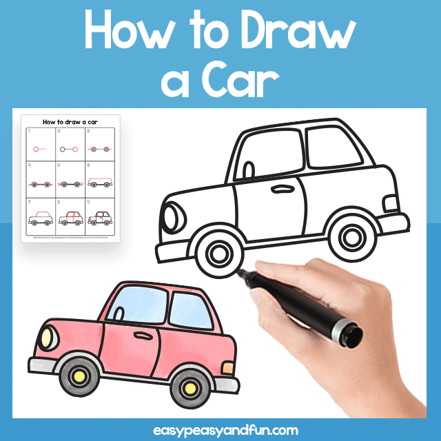Car Guided Drawing Printable