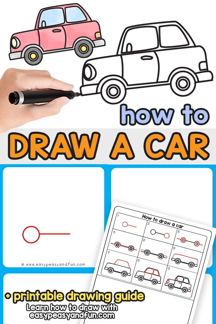 How to Draw a Car Step by Step Tutorial