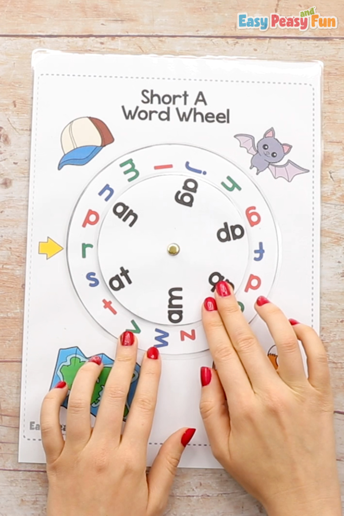 CVC Word Wheel Activity