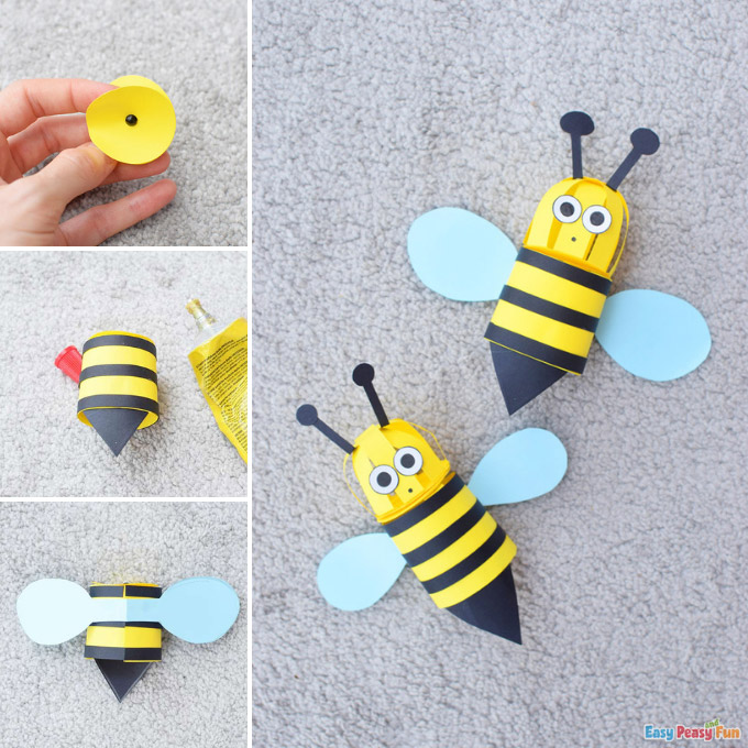 3D Paper Bee Craft Idea
