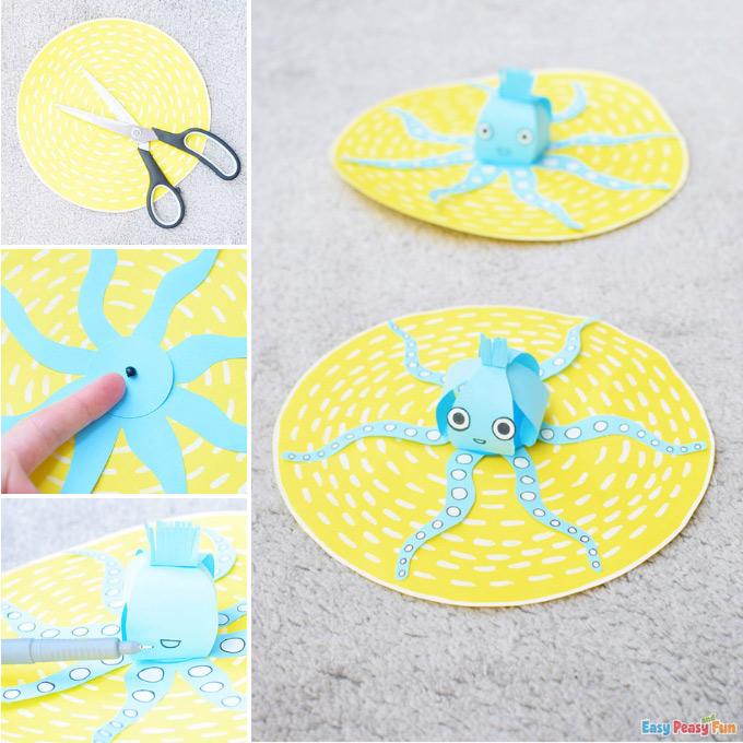 3D Paper Octopus Craft Idea