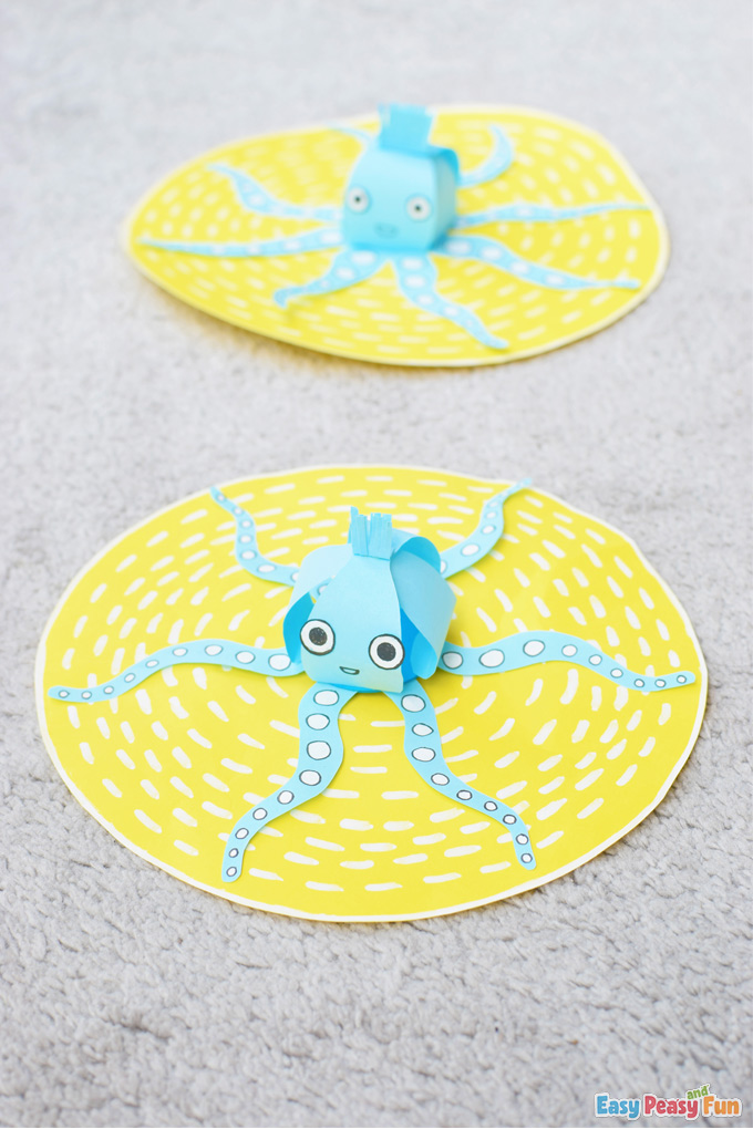 3D Paper Octopus Summer Craft
