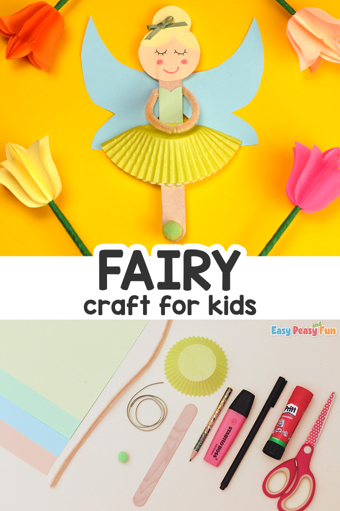 Craft Stick Fairy Craft for Kids