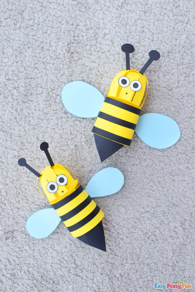 DIY 3D Bee Paper Craft