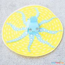 3D Paper Octopus Craft
