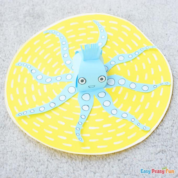 DIY 3D Paper Octopus Craft