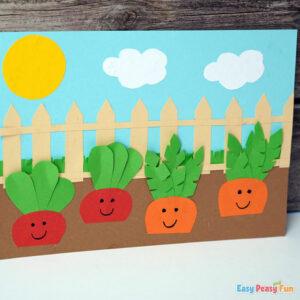 DIY Carrot Garden Paper Craft