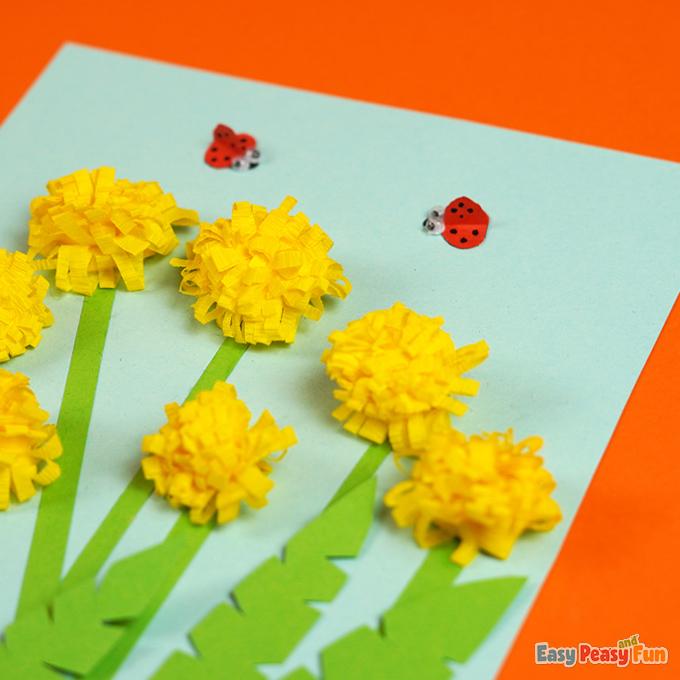 DIY Paper Dandelions