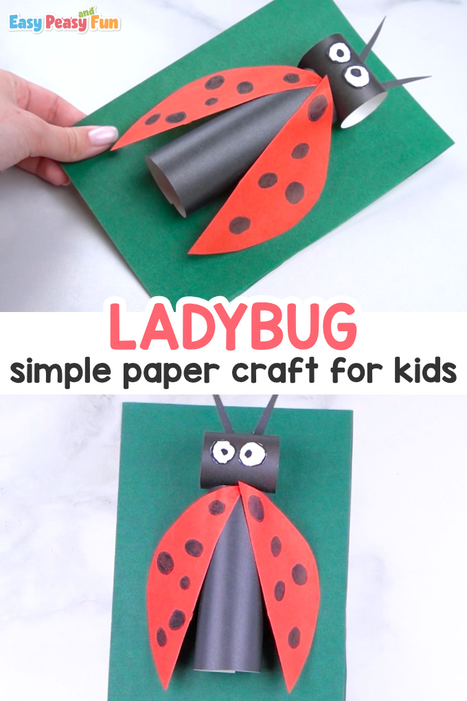 How to Make a Paper Ladybug Craft for Kids