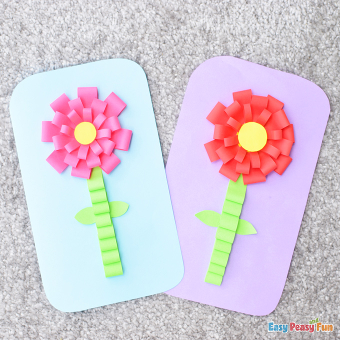 Mothers Day Flower Card Craft