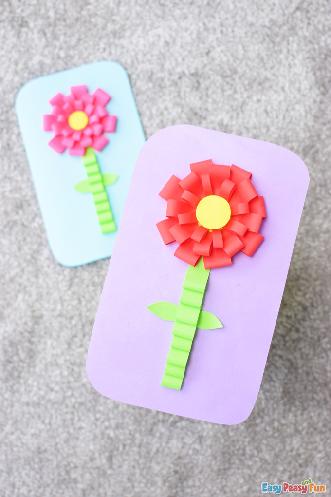 Mothers Day Paper Flower Card