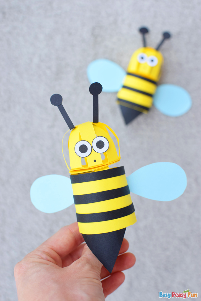 Paper 3D Bee Craft