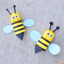 3D Paper Bee Craft