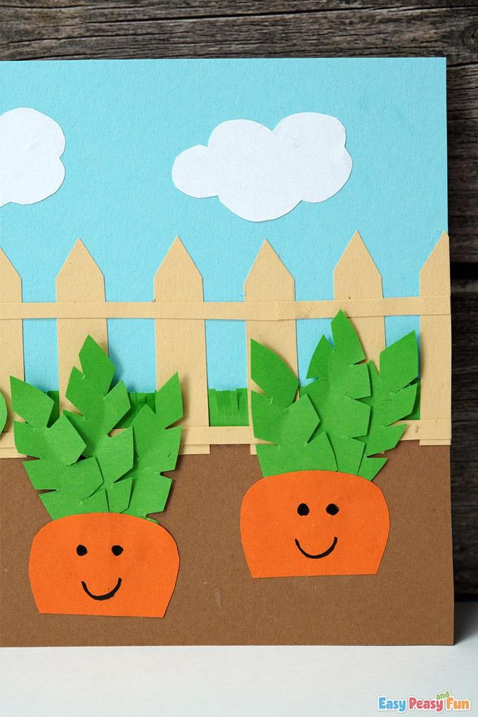 Paper Carrot Garden Craft