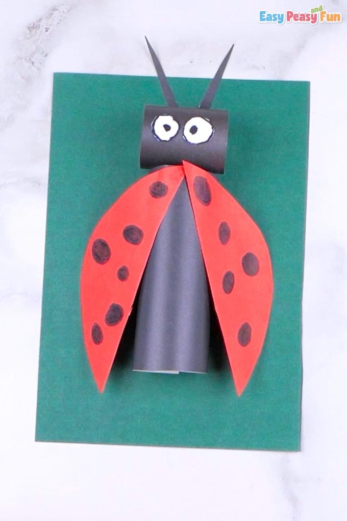 Paper Ladybug Craft for Kids