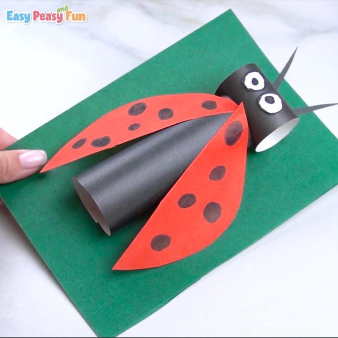 Paper Ladybug Craft