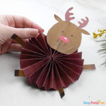 Paper Rosette Reindeer Craft