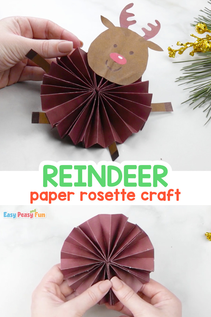 Paper Rosette Reindeer Craft Idea