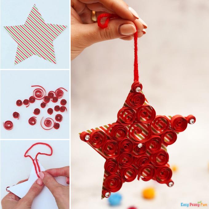 Paper Star Christmas Ornament Idea