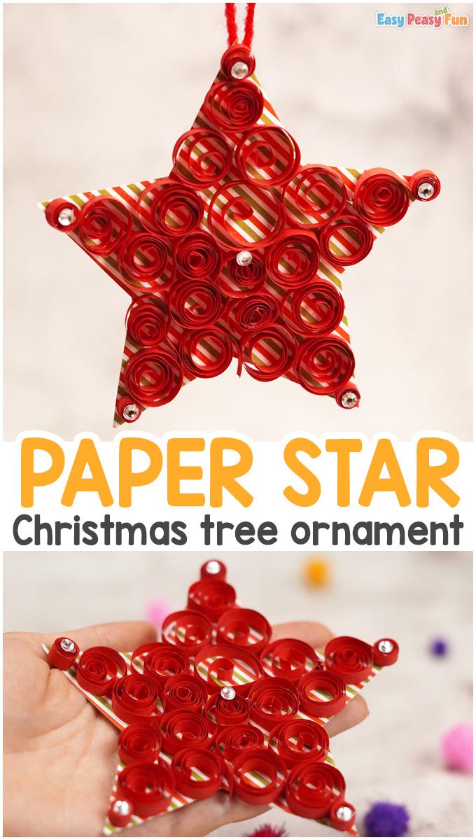 Paper Star Christmas Ornament