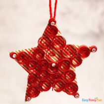 Paper Star Christmas Ornament