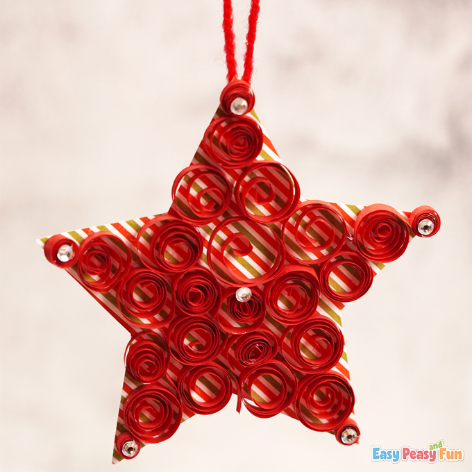 Paper Star Xmas Ornament