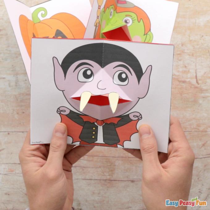 Pop Up Halloween Karten Vorlagen
