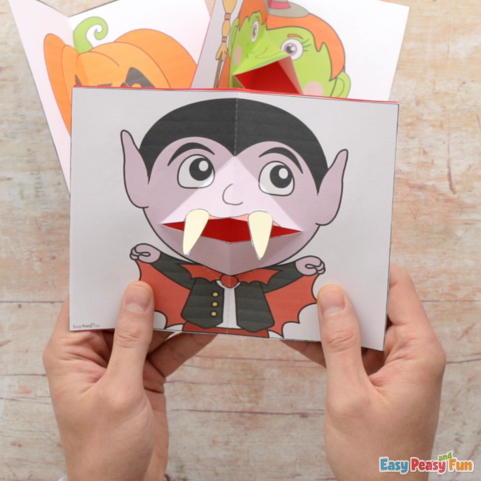 Pop Up Halloween Cards Templates