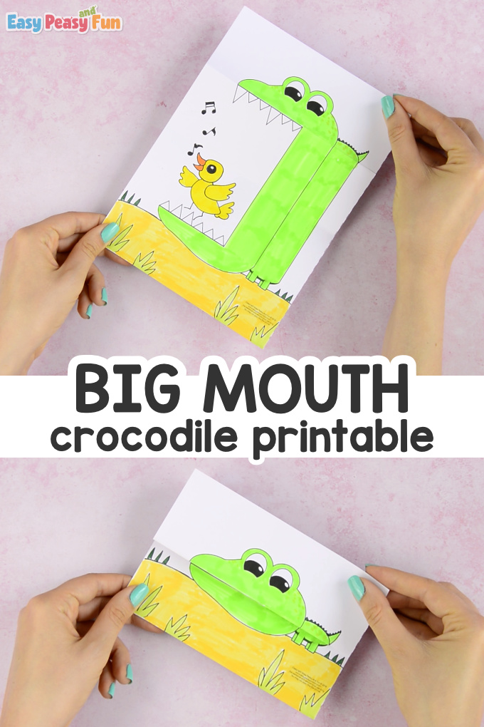 Surprise Big Mouth Crocodile Printable for Kids