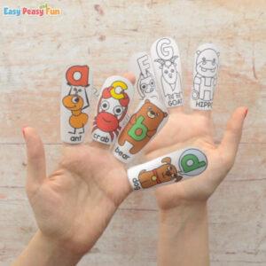 Alphabet Finger Puppets Templates