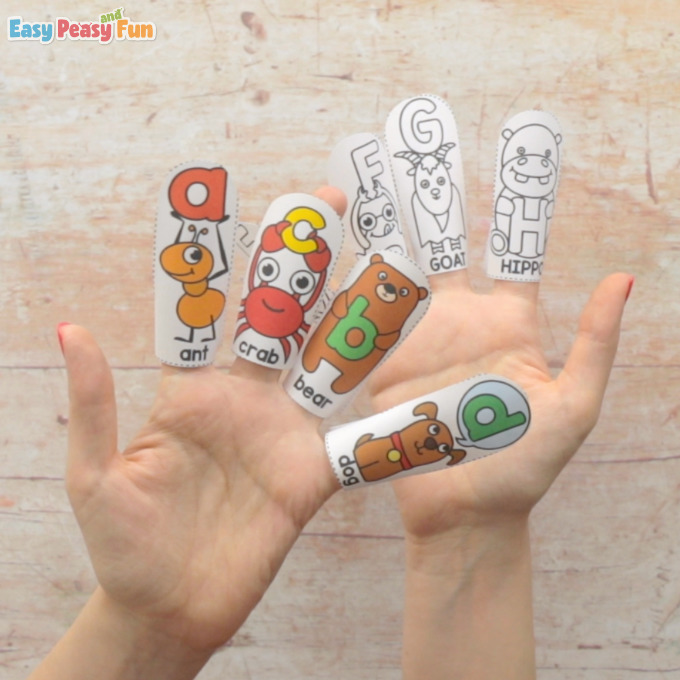 Alphabet Finger Puppets Templates