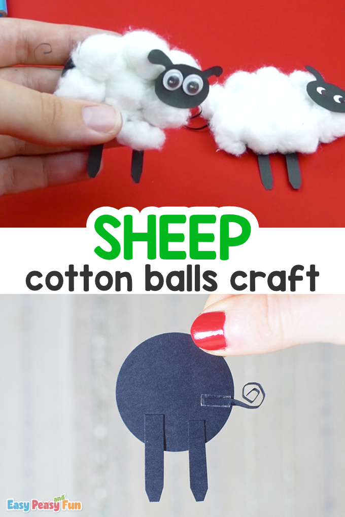 Cotton Balls Sheep Craft for Kids