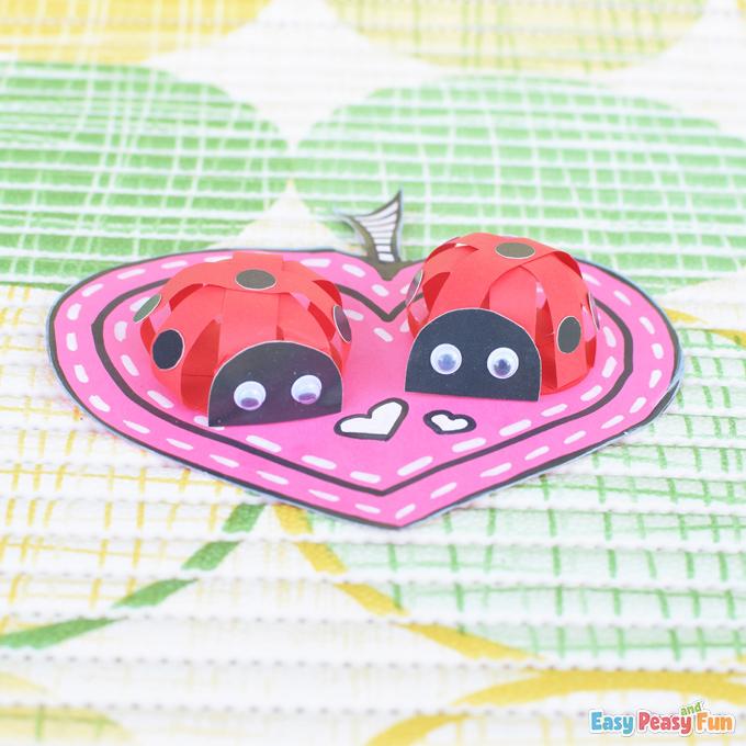 DIY 3D Ladybug Paper Craft