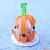 3D Paper Halloween Pumpkin Craft
