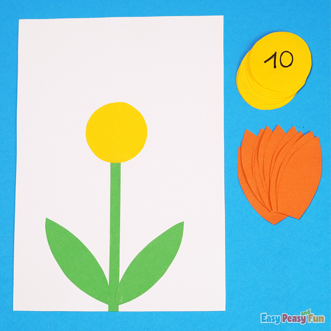 DIY Flower Counting to 10 Activity