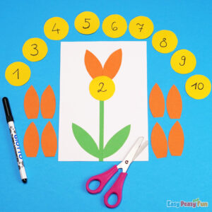 DIY Flower Petal Count to 10 Activity