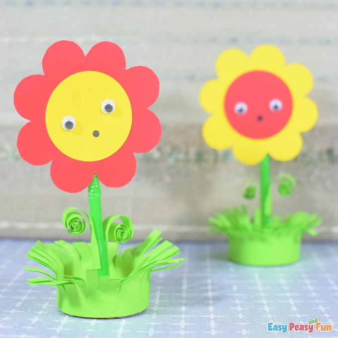 DIY Paper Flower in a Pot Craft