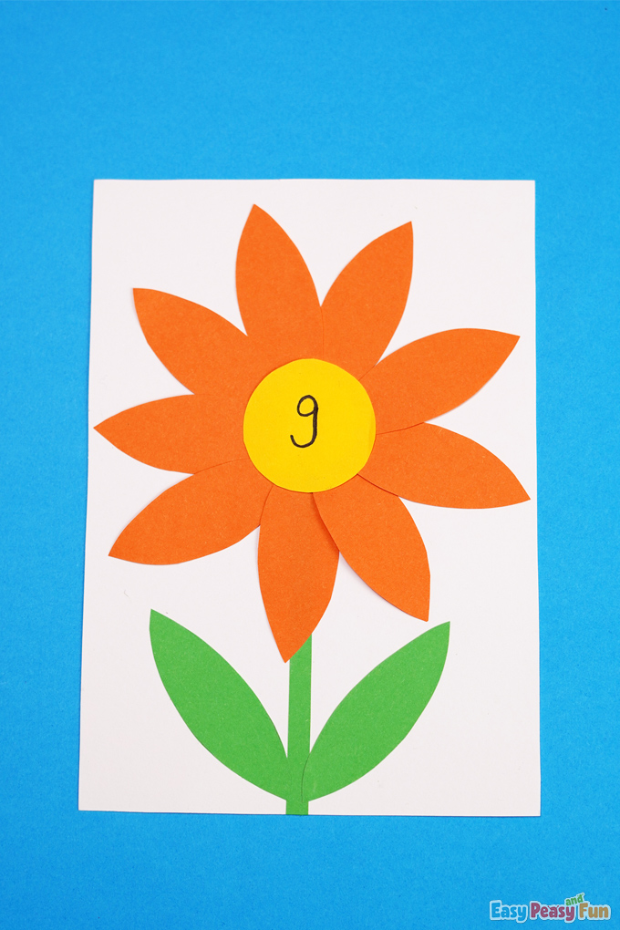 Flower Petal Count to 10 Activity