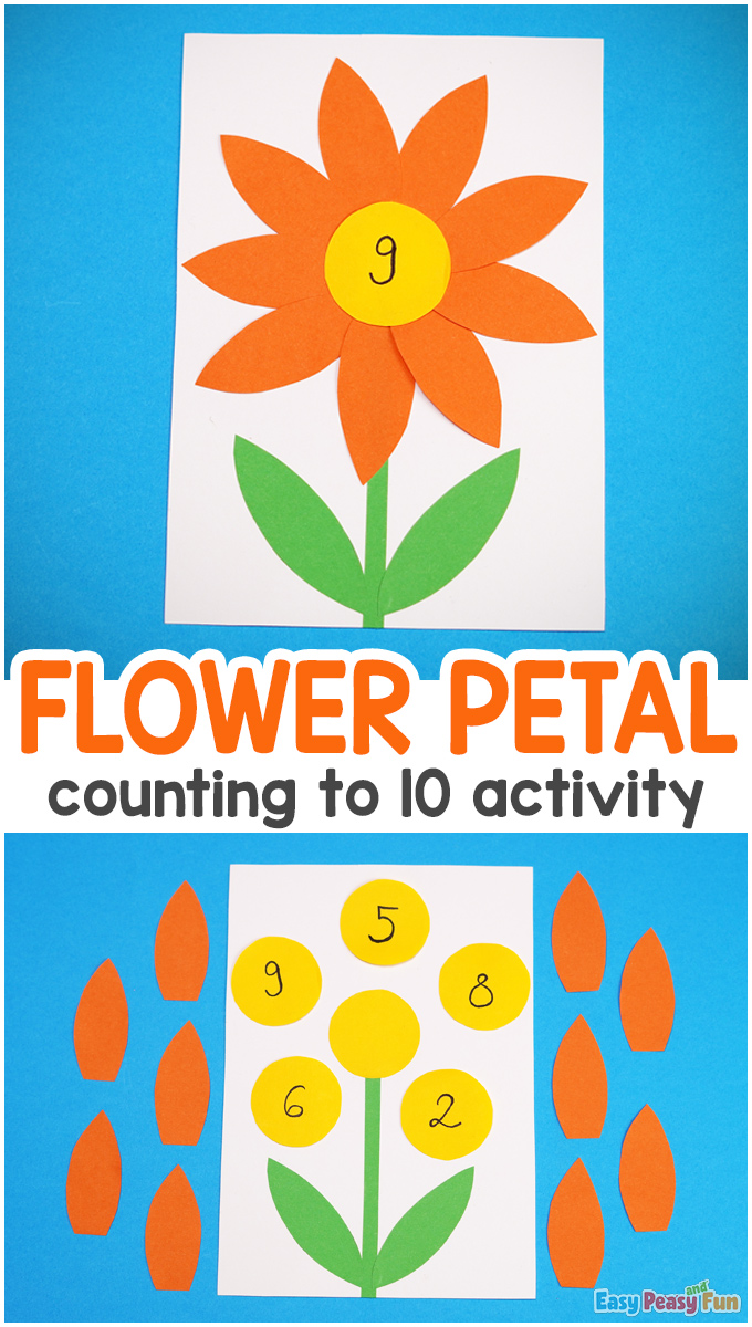 Flower Petal Counting to 10 Activity