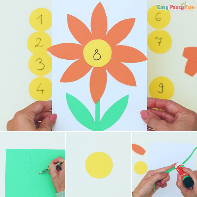 Flower Petal Counting to 10 Idea