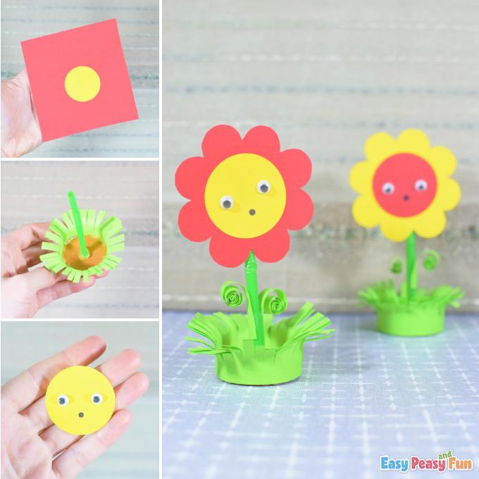 Flower in a Pot Paper Craft Idea