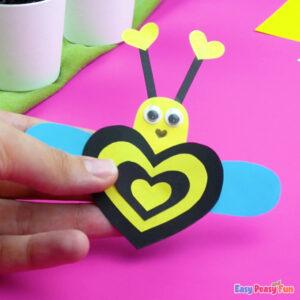 Heart Bee Valentines Day Craft